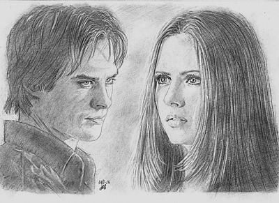 Рисунки «Damon&Elena» G